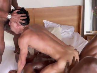 Rhyheim Shabazz And Joaquin Santana In Rhyheim & Farley Fuck Joaquin Pt1