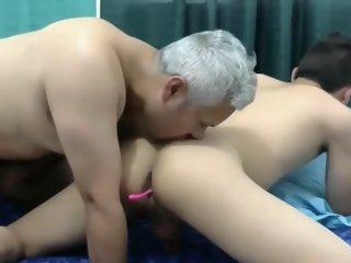Teen With Grandpa Bareback